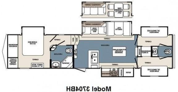 Best ideas about 2 Bedroom 5Th Wheel Floor Plans . Save or Pin 3 Bedroom Rv Floor Plan Now.
