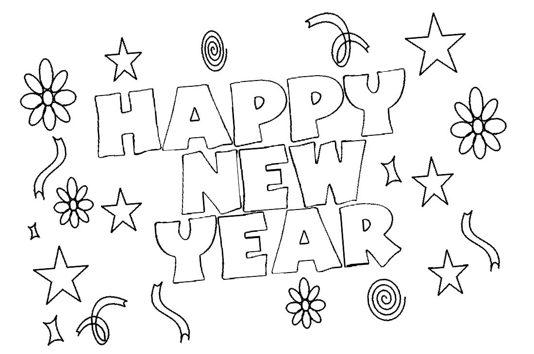 2019 Coloring Pages For Kids  Happy New Year Coloring Pages 2019 Free Printable