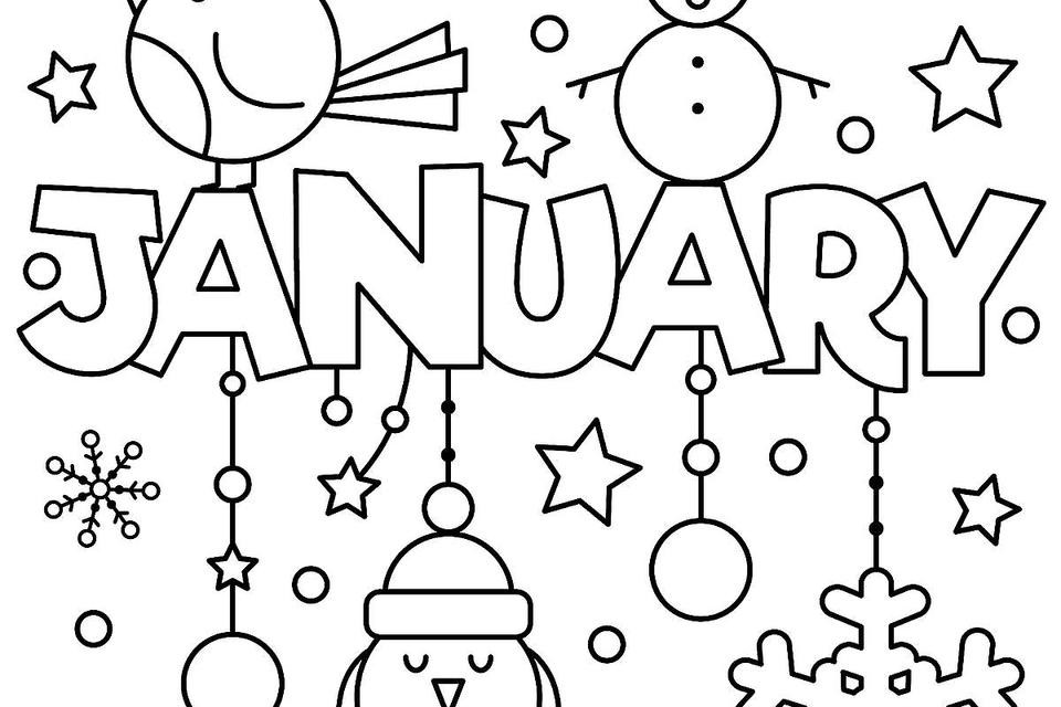 2019 Coloring Pages For Kids  New Year & January Coloring Pages Printable Fun to Help