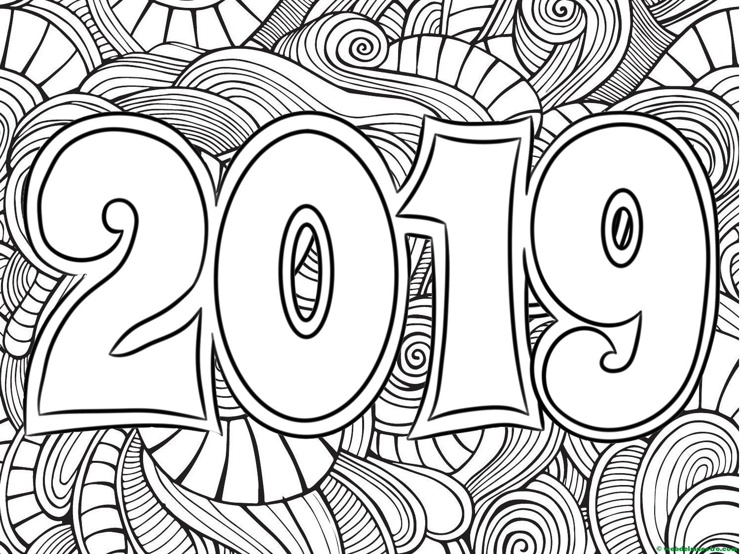 2019 Coloring Pages For Kids  Dibujos para colorear