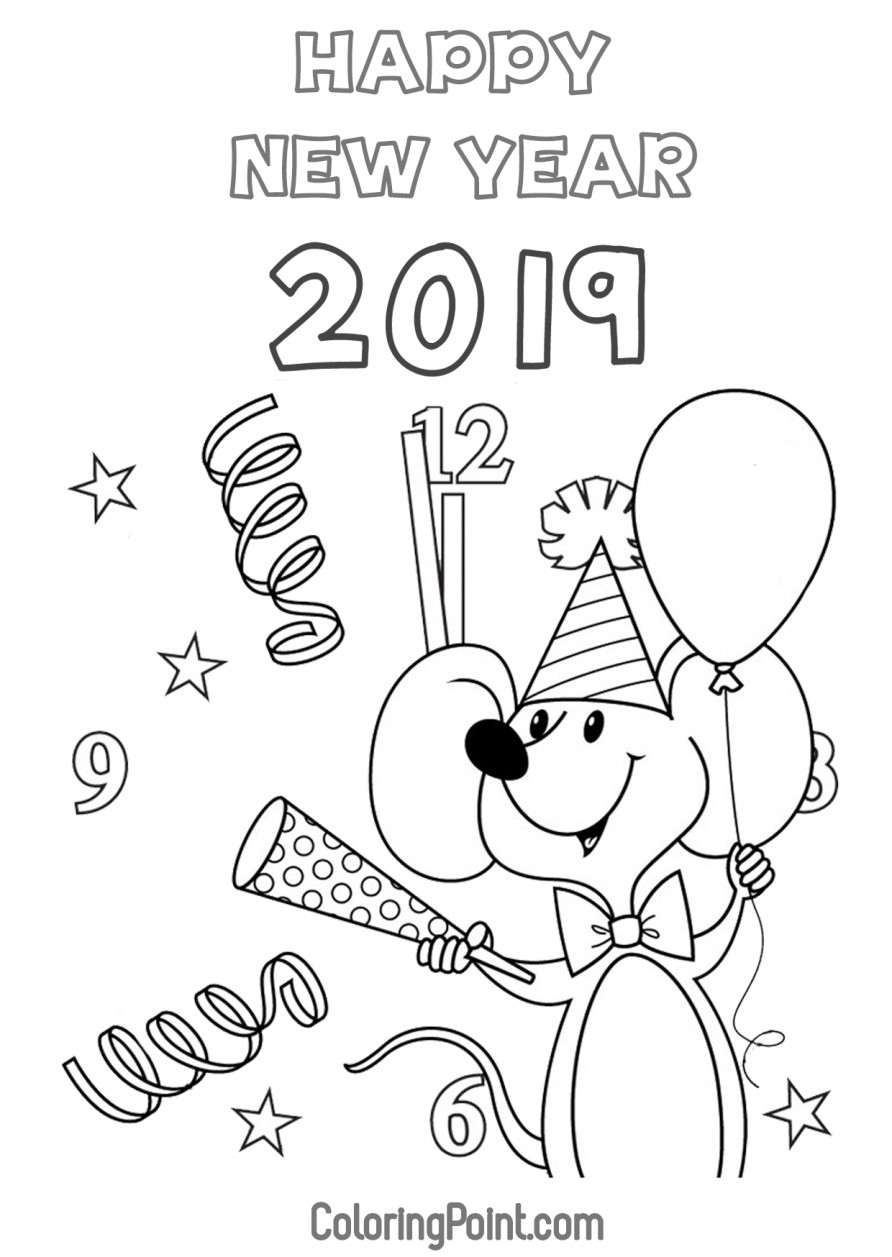 2019 Coloring Pages For Kids  Free Printable Happy New Year 2019 Coloring Pages