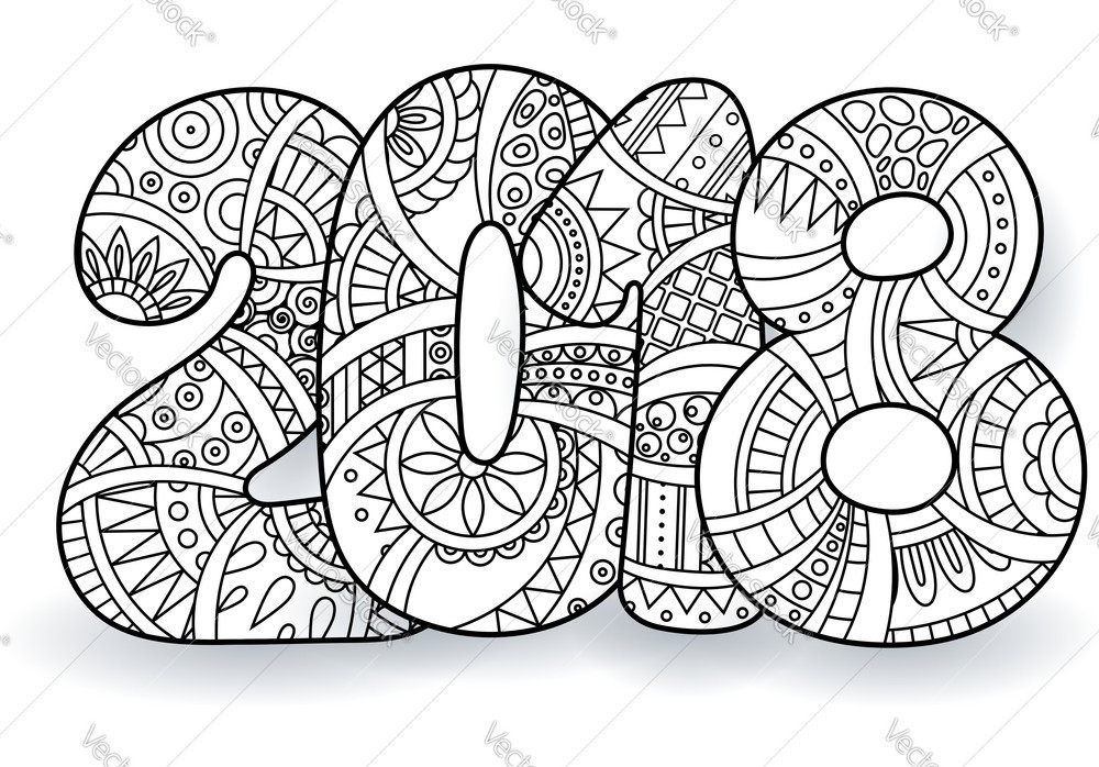 2019 Coloring Pages For Kids  Happy New Year 2019 Coloring Pages HD Printable s