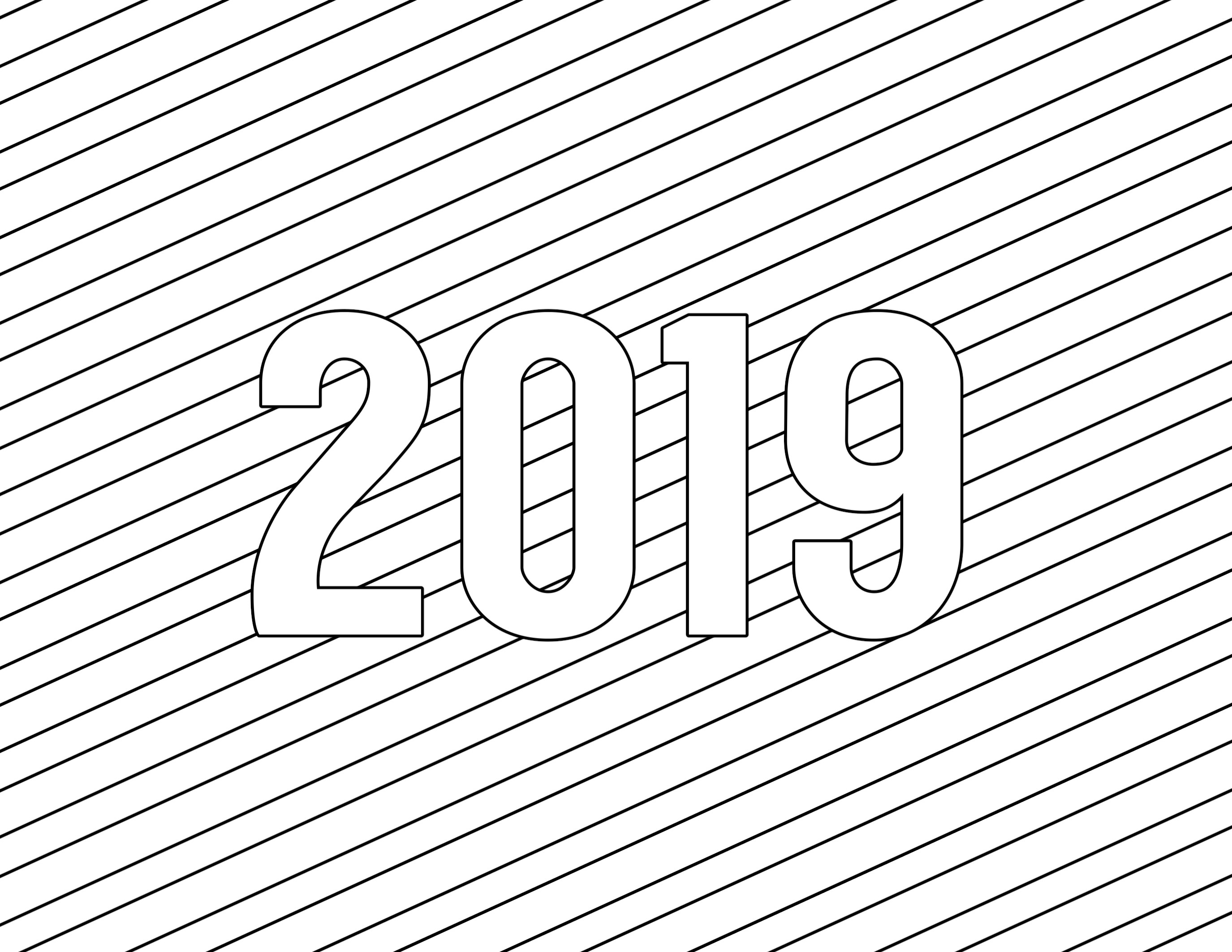 2019 Coloring Pages For Kids  Happy New Year Coloring Pages Free Printable Paper Trail