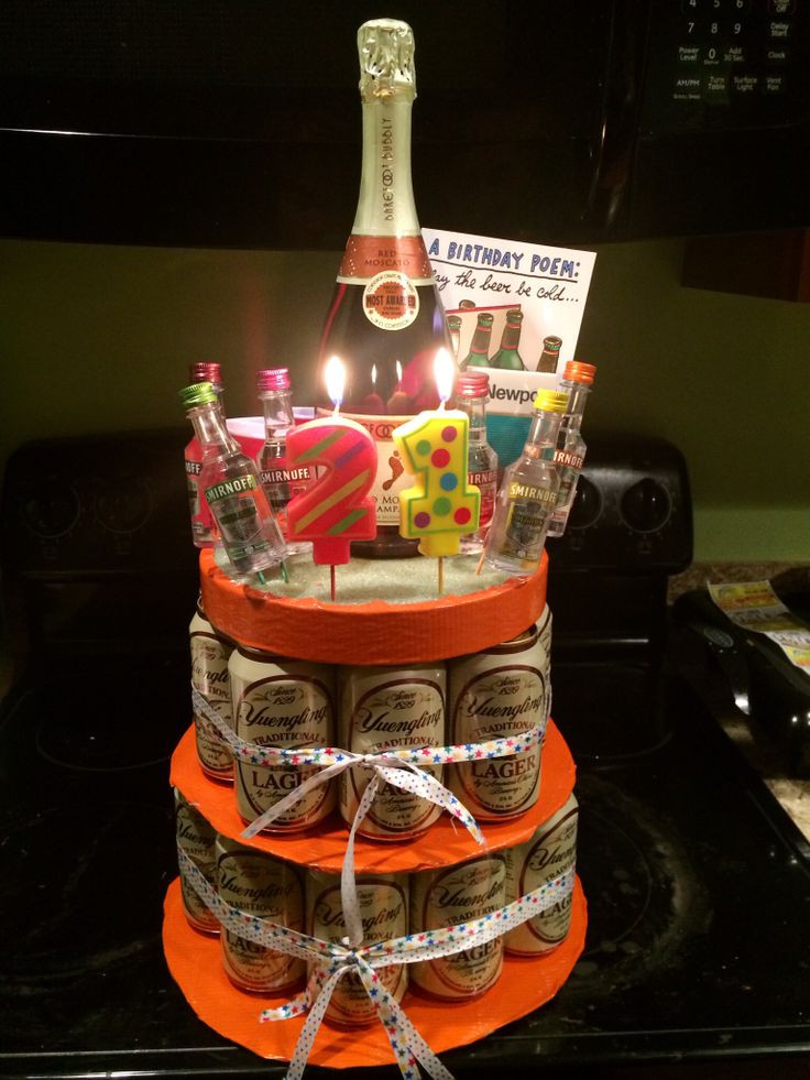 "Best ideas about 21St Birthday Gift Ideas For Him . Save or Pin My 21st ""birthday cake"" for him Now."