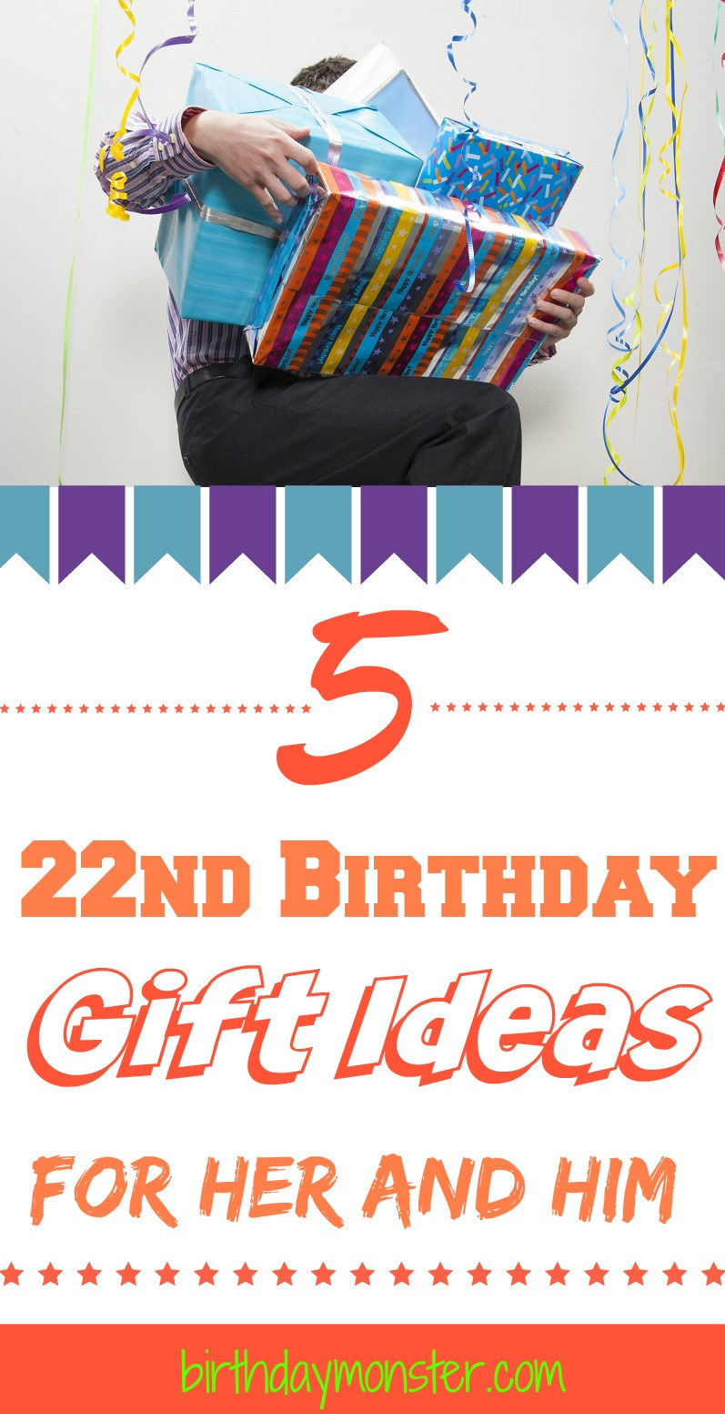 22Nd Birthday Gift Ideas  22nd Birthday Gift Ideas for Her and Him Birthday Monster