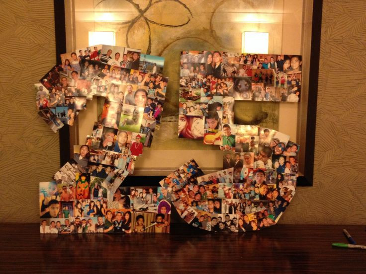 25Th Birthday Gift Ideas  A 25 picture collage for the boyfriends 25th birthday
