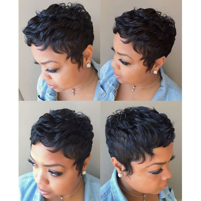 27 Piece Weave Short Hairstyle  27 Pieces Short Human Straight Hair Weave With Free