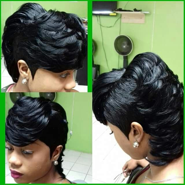 28 Piece Weave Short Hairstyles  28 piece Quick Weave te