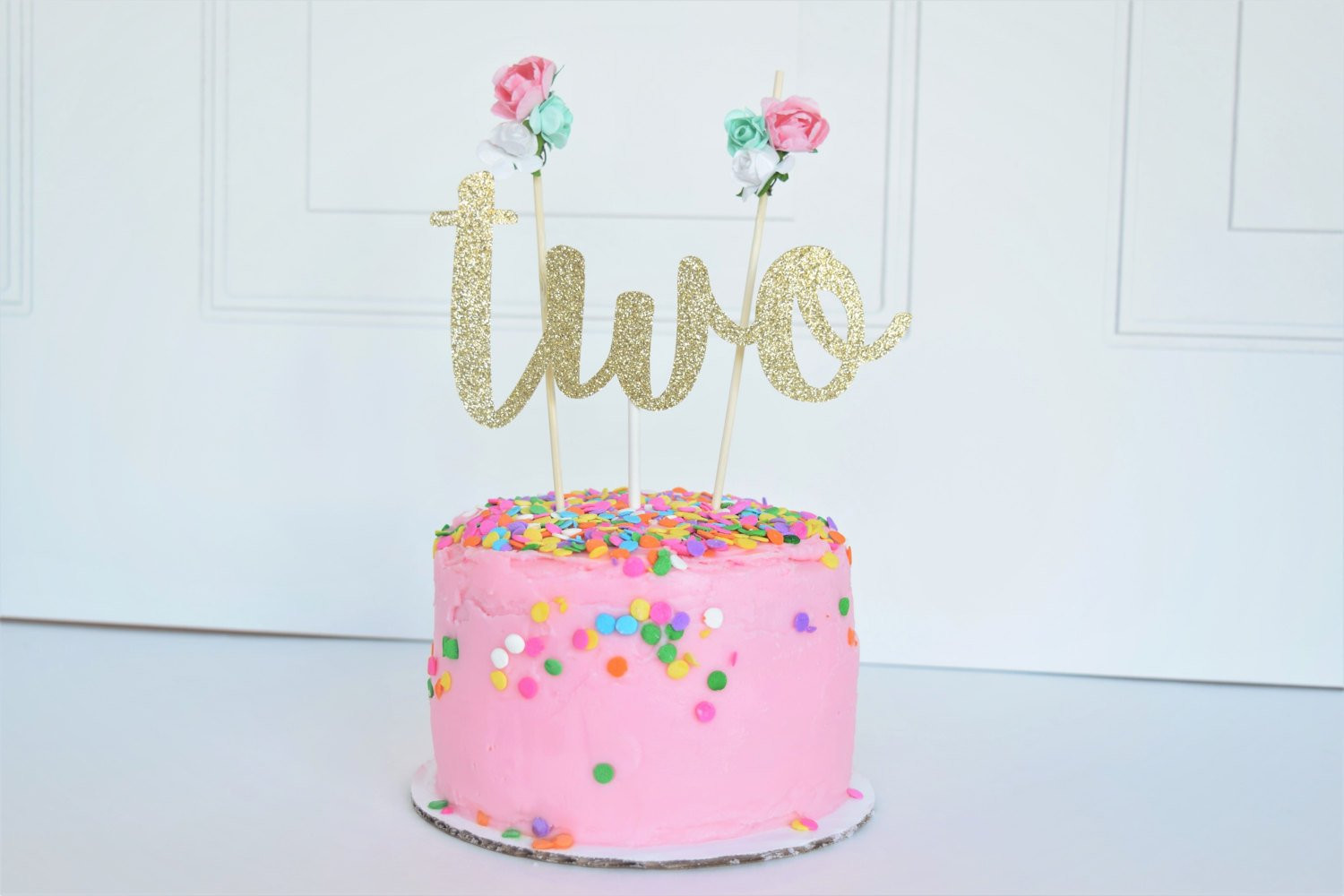 Best ideas about 2nd Birthday Cake . Save or Pin Two Cake Topper Second Birthday Cake Topper Floral Now.