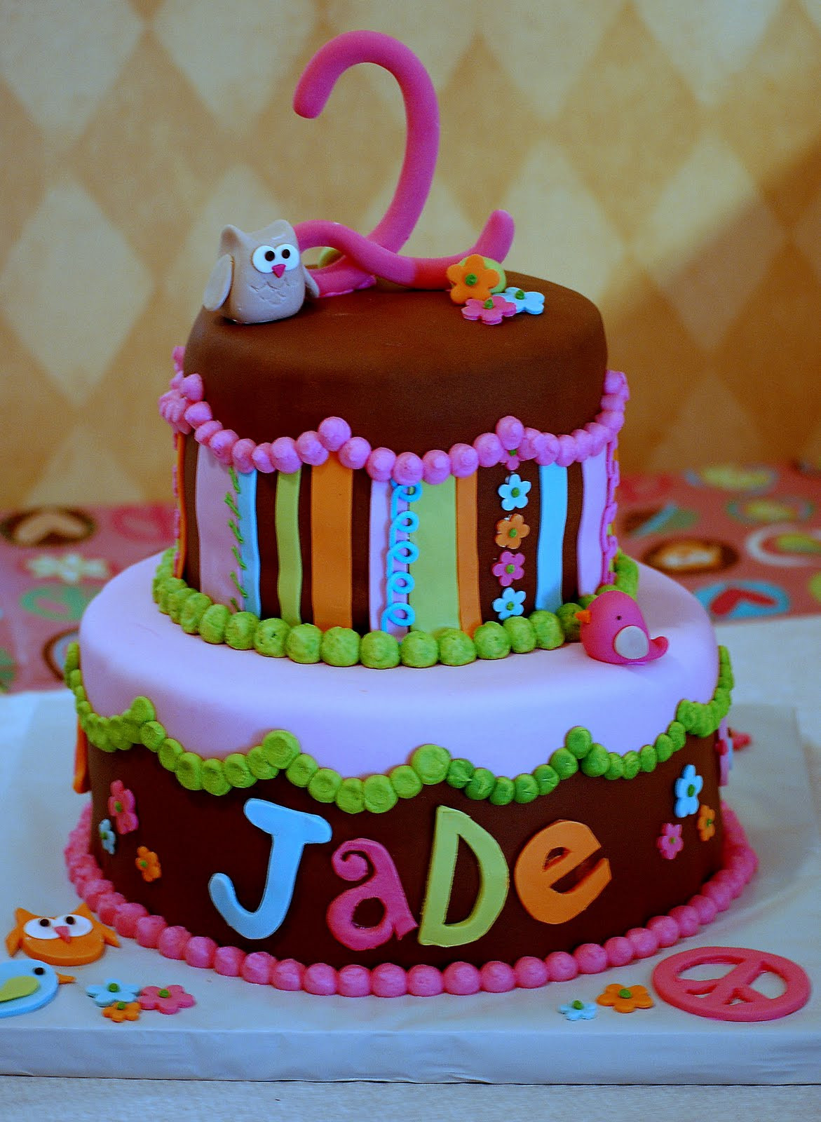 Best ideas about 2nd Birthday Cake . Save or Pin CakeFilley Groovy 2nd Birthday Cake Now.