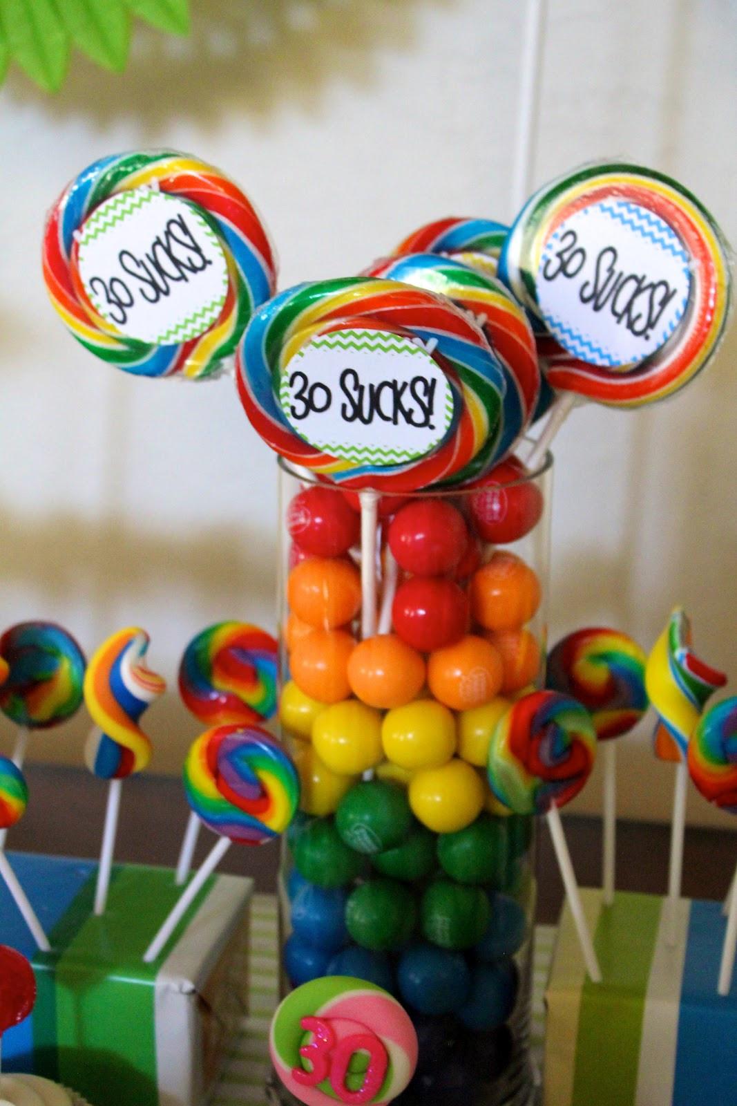 30 Birthday Party Ideas  30th Birthday Theme 30 Sucks Party Ideas