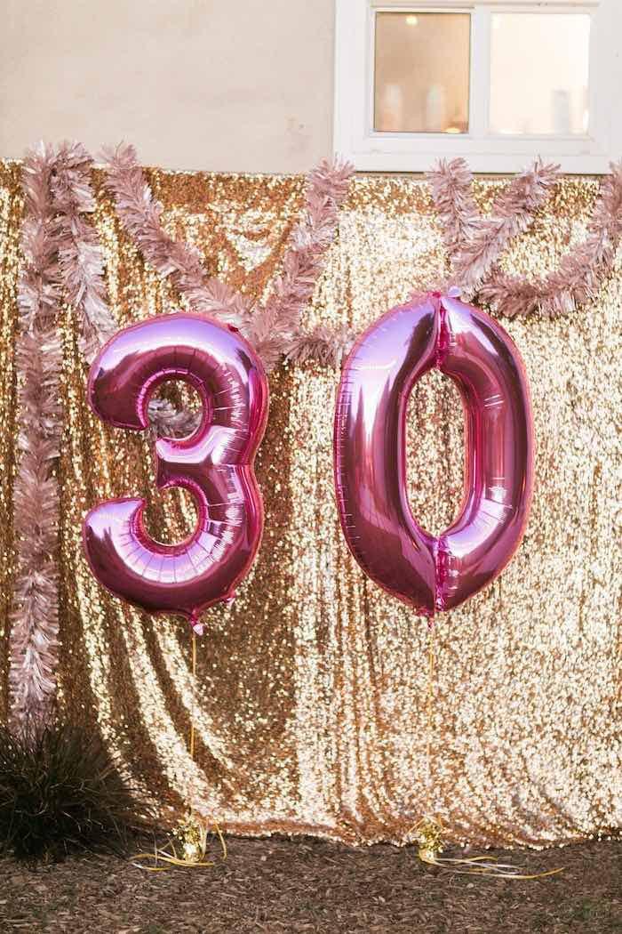 30 Birthday Party Ideas  Kara s Party Ideas Sparkly 30th Birthday Bash