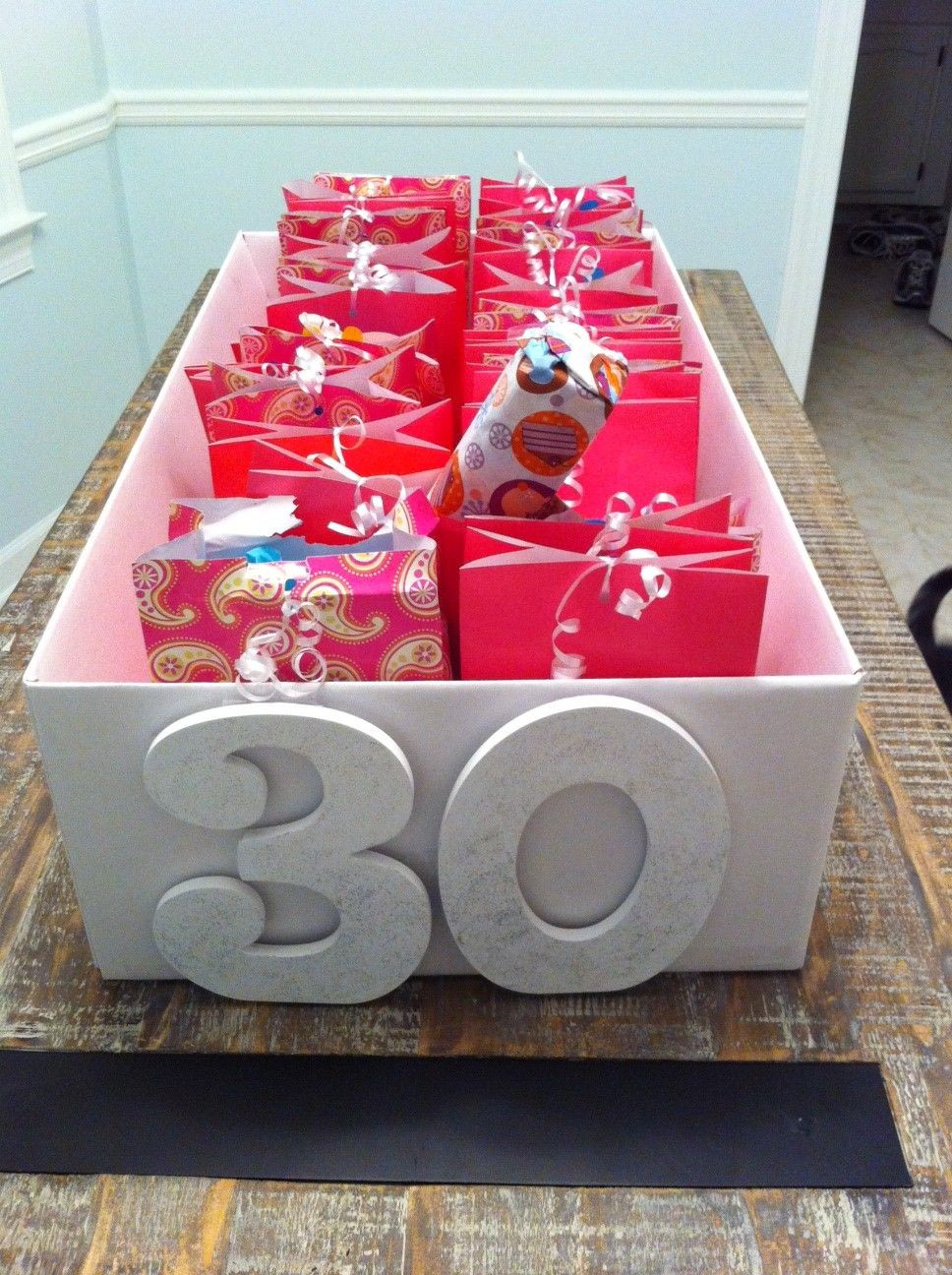 Best ideas about 30 Birthday Present Ideas . Save or Pin 30 presents for the 30 days before a 30th birthday Now.