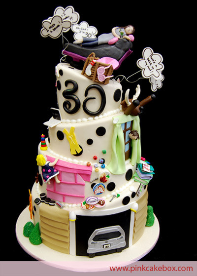 Best ideas about 30th Birthday Cake . Save or Pin images of 30th birthday cakes Now.