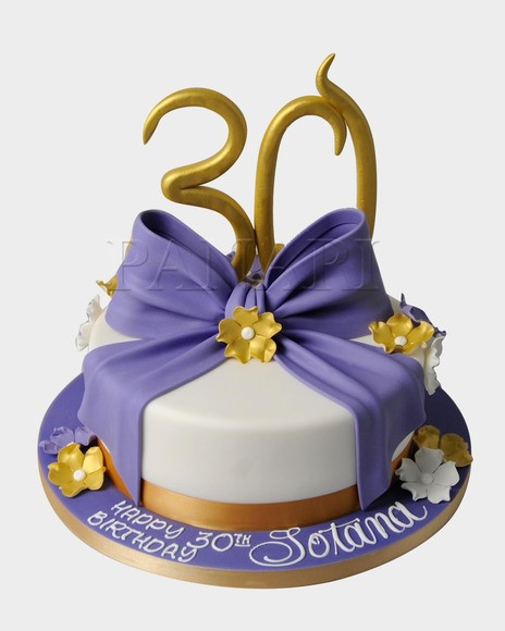 Best ideas about 30th Birthday Cake . Save or Pin 30TH BIRTHDAY CAKE CL7958 Panari Cakes Now.