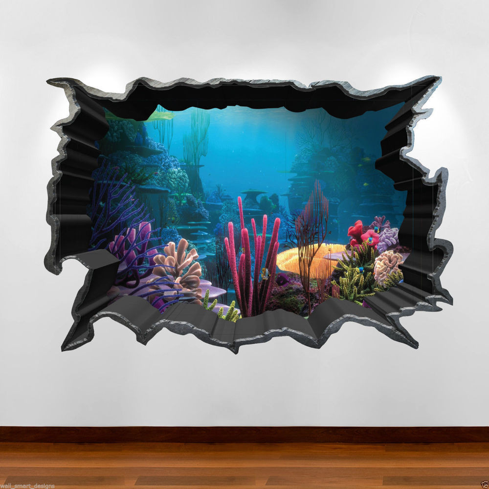 Best ideas about 3D Wall Art . Save or Pin Tropical Fish Aquarium 3D Colour Wall Art Sticker Decal Now.