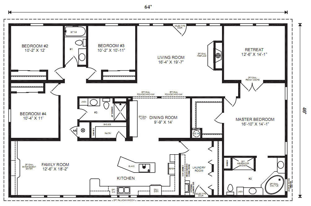 Best ideas about 4 Bedroom Modular Homes . Save or Pin Modular Home Plans 4 Bedrooms Now.