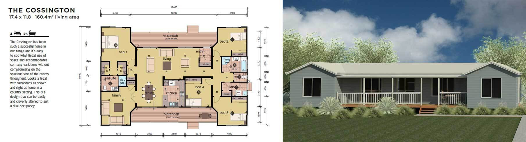 Best ideas about 4 Bedroom Modular Homes . Save or Pin The Cossington 4 Bedroom Modular Home Parkwood Homes Now.