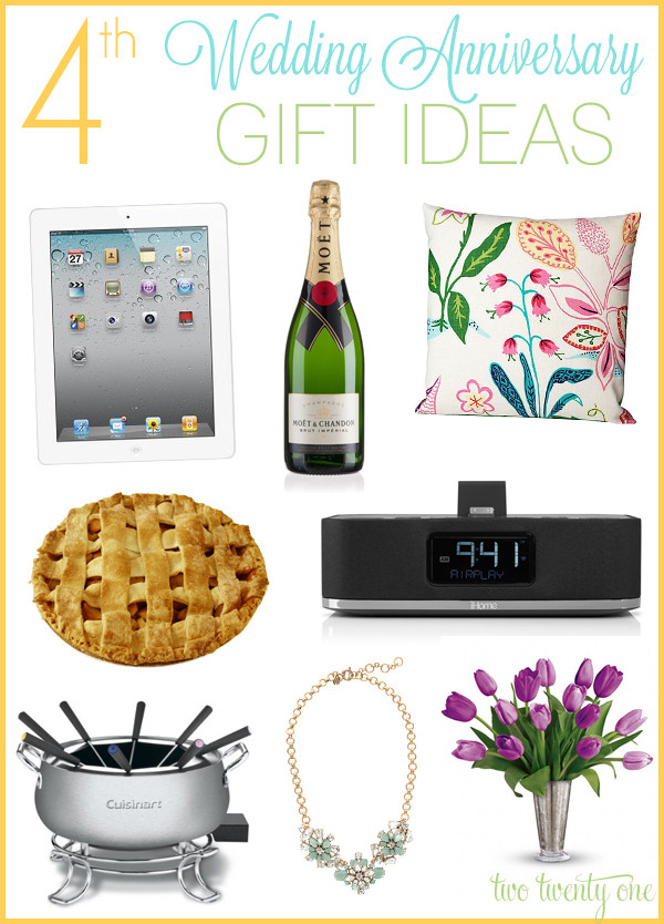 Best ideas about 4 Year Wedding Anniversary Gift Ideas . Save or Pin 4th Anniversary Gift Ideas Now.