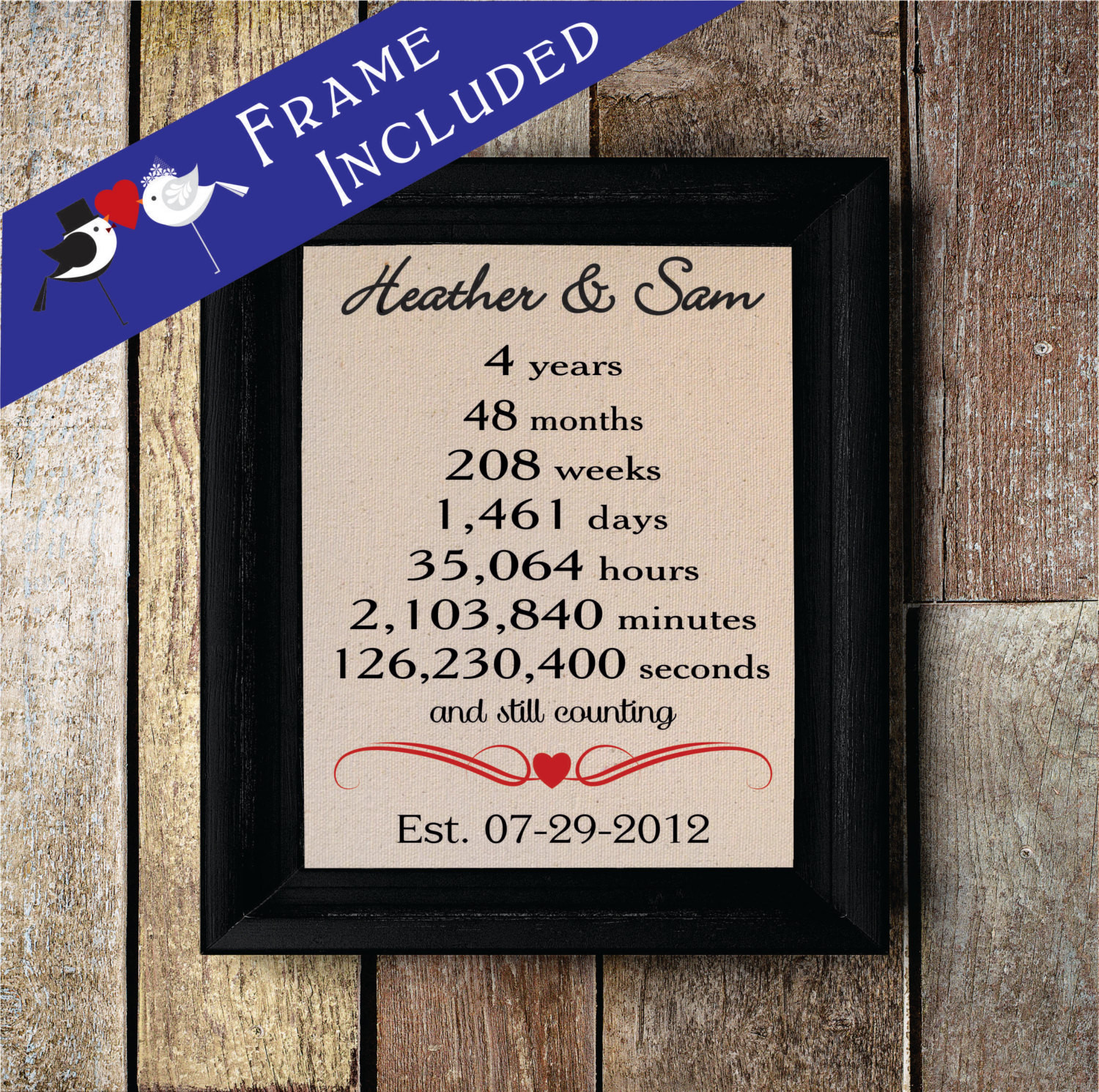 Best ideas about 4 Year Wedding Anniversary Gift Ideas . Save or Pin Fourth Wedding Anniversary 4th Anniversary Gift 4 year Now.