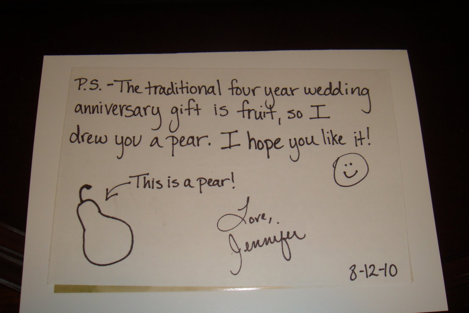 Best ideas about 4 Year Wedding Anniversary Gift Ideas . Save or Pin The Pink Chick A Gift for Him Now.