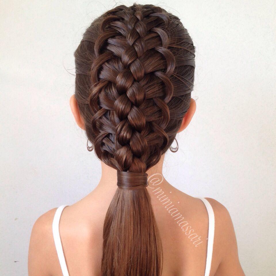 5 Braids Hairstyles  5 strand French Loop Braid by mimiamassari