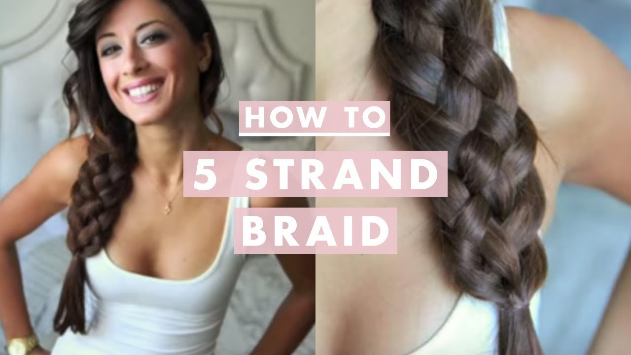 5 Braids Hairstyles  How To Five 5 Strand Braid