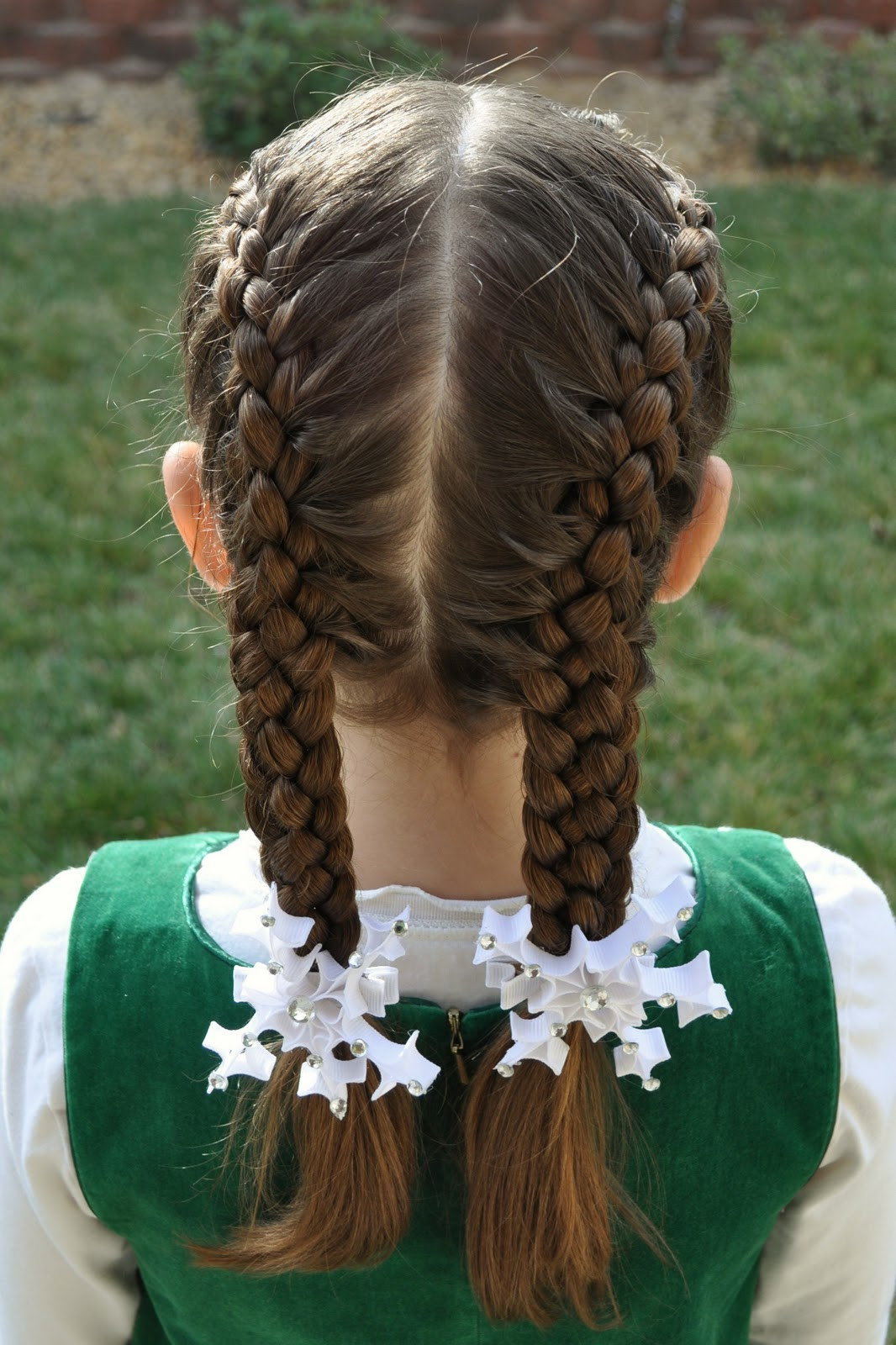 5 Braids Hairstyles  Princess Piggies Friday s s French 4 Strand & French