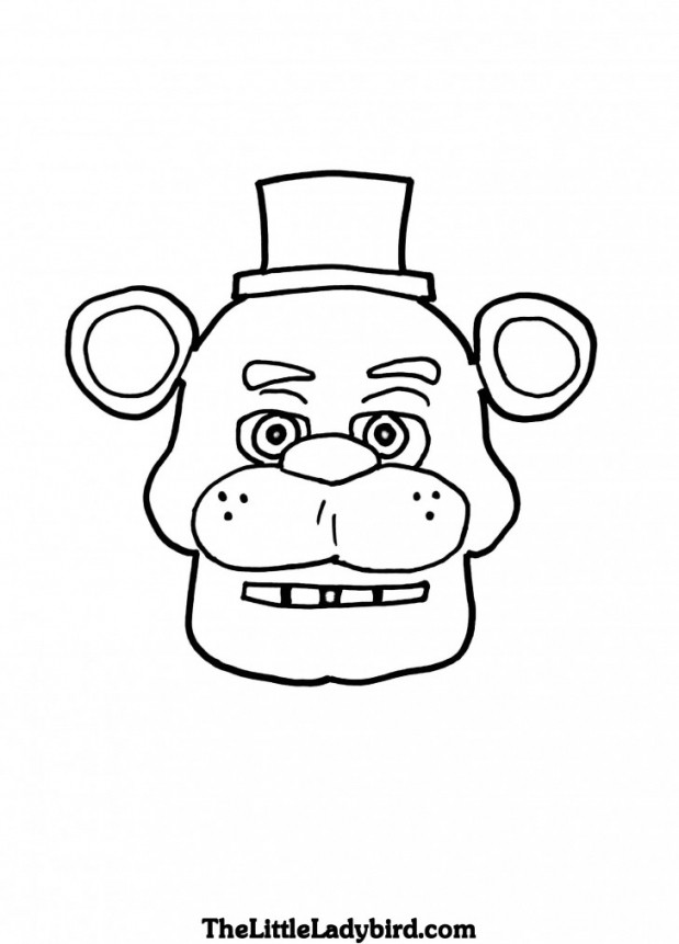 5 Nights At Freddy'S Printable Coloring Pages  Coloring Pages Five Nights At Freddys To Print Wonderful
