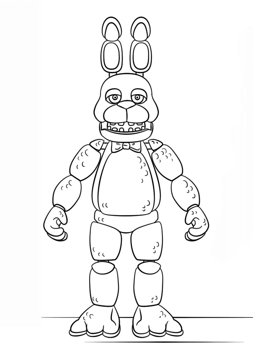 5 Nights At Freddy'S Printable Coloring Pages  Five Nights At Freddy s Coloring Pages 5H7K Five Nights At