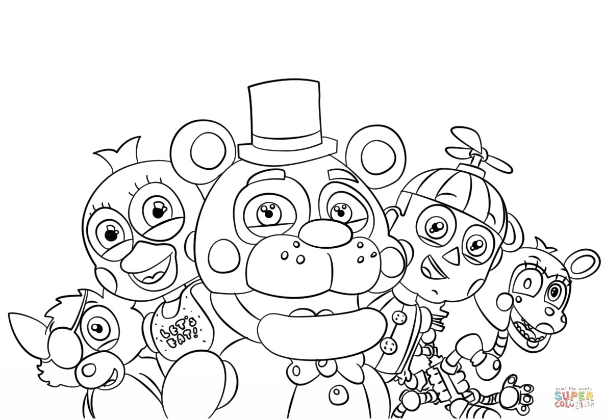 5 Nights At Freddy'S Printable Coloring Pages  Five Nights at Freddy s Characters Cute Coloring Pages to