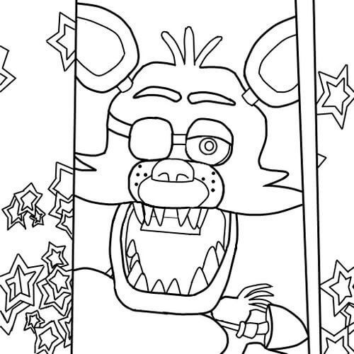 5 Nights At Freddy'S Printable Coloring Pages  Fnaf Coloring Pages