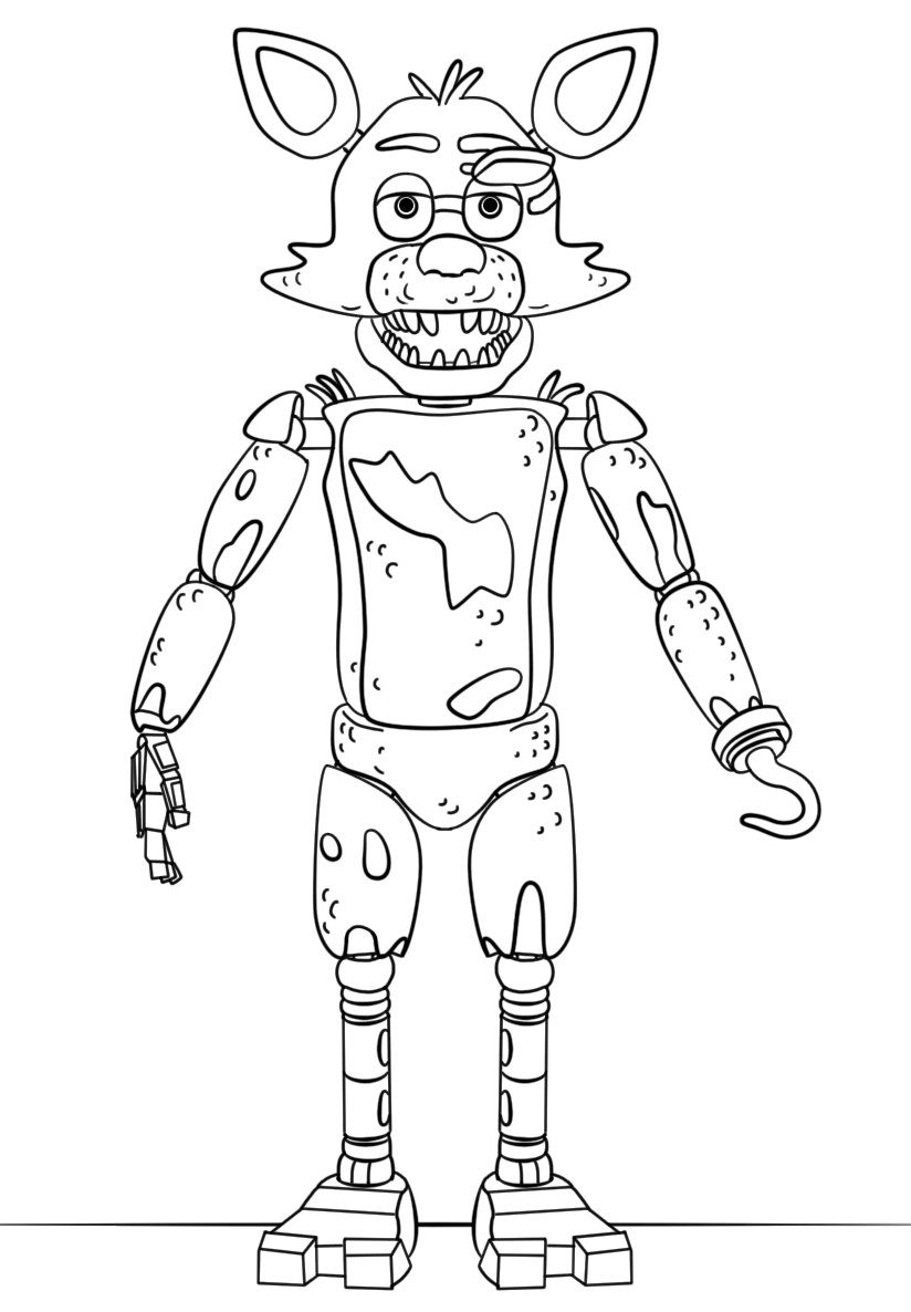 5 Nights At Freddy'S Printable Coloring Pages  Clipartxtras Human Mangle Fnaf Anime
