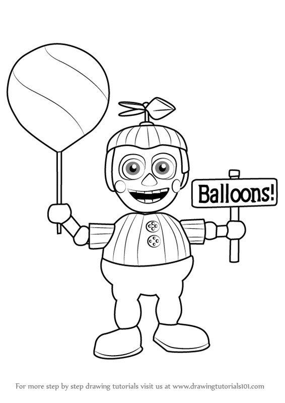5 Nights At Freddy'S Printable Coloring Pages  Five Nights at Freddy s Coloring Pages Balloon Boy