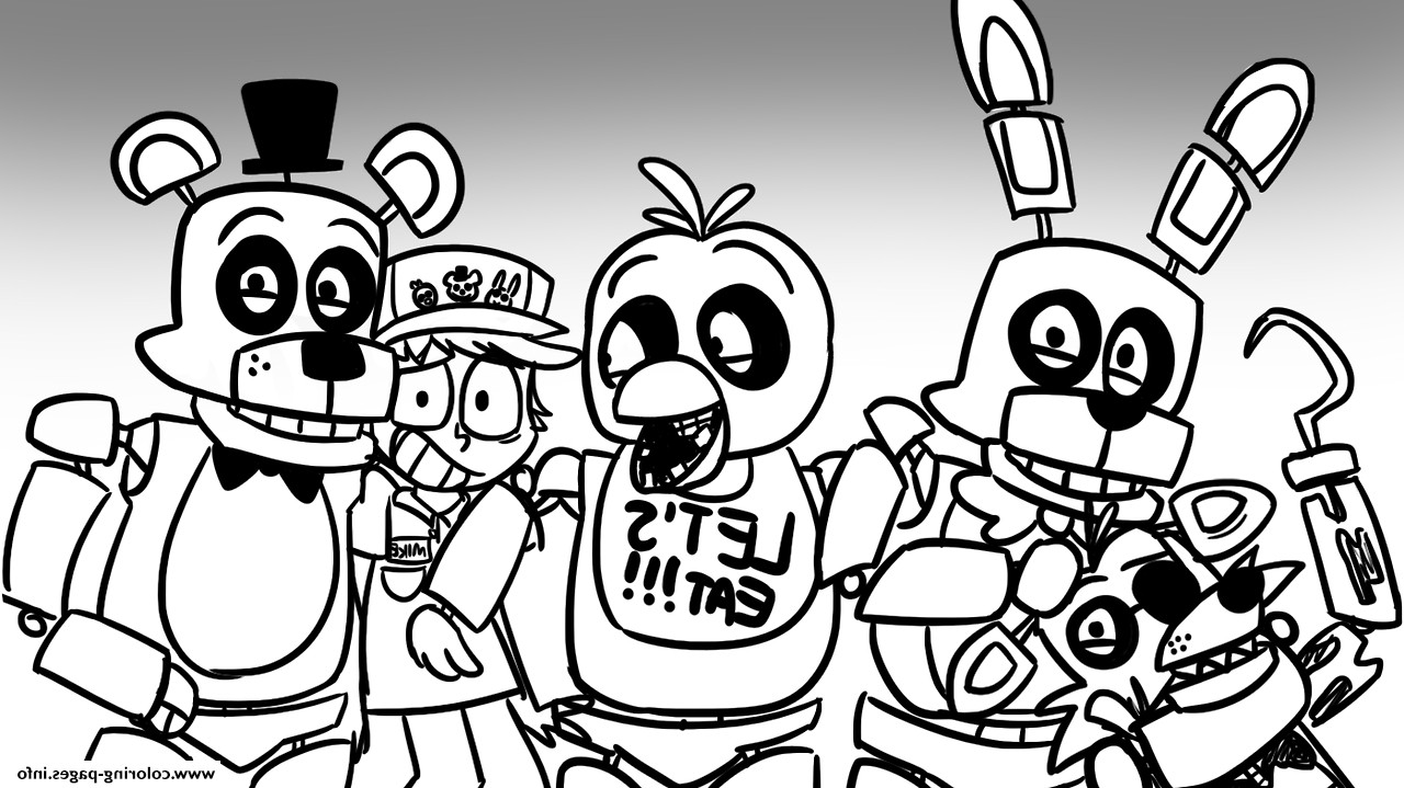5 Nights At Freddy'S Printable Coloring Pages  Five Nights At Freddy s Coloring PS25 Print