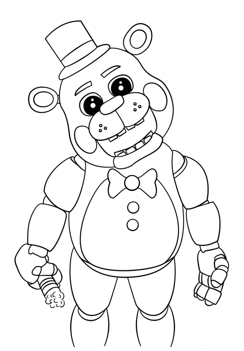 5 Nights At Freddy'S Printable Coloring Pages  Free Printable Five Nights at Freddy S Coloring Pages