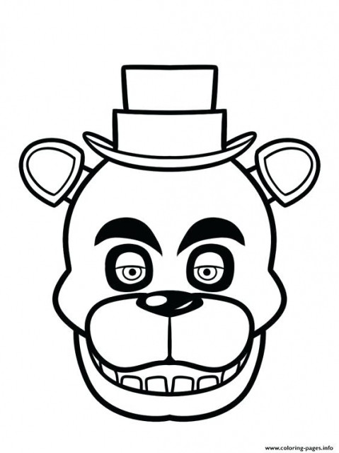 5 Nights At Freddy'S Printable Coloring Pages  Best of Five Nights At Freddy s Coloring Pages sf8