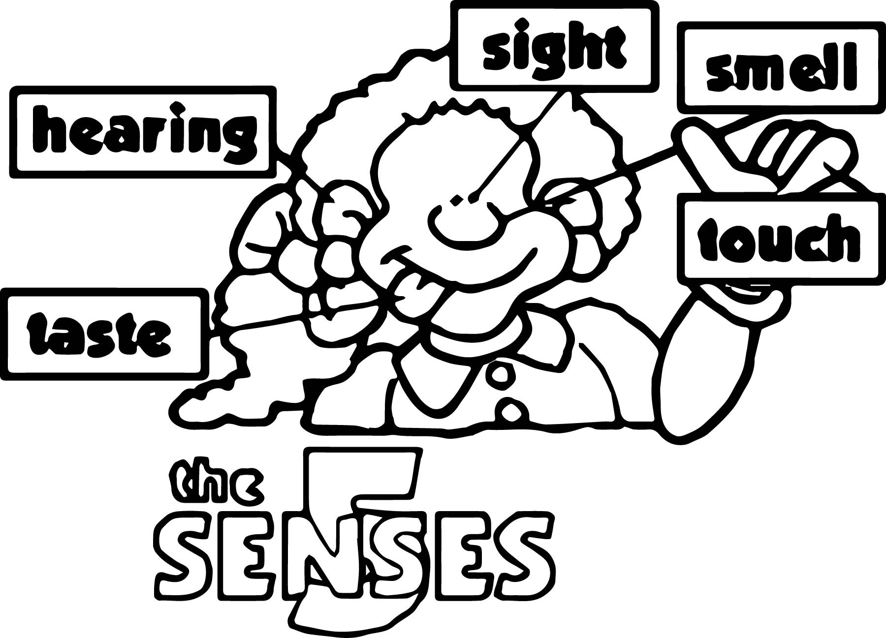 5 Senses Coloring Pages  The 5 Senses Coloring Page