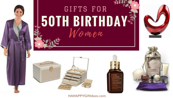 50Th Birthday Gift Ideas For Women  The Best 50th Birthday Gifts for Women HAHAPPY Gift Ideas