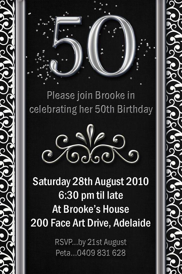 50th Birthday Invitations For Her  50th Birthday Invitations For Men