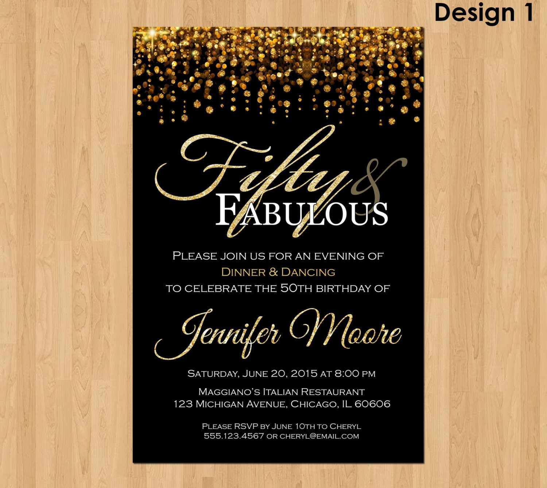50th Birthday Invitations For Her  50th birthday invitations 50th birthday invitations for