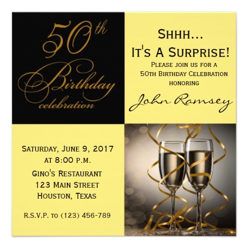50th Birthday Invitations For Her  Surprise 50th Birthday Party Invitations Wording