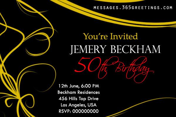 50th Birthday Invitations For Her  50th Birthday Invitations and 50th Birthday Invitation