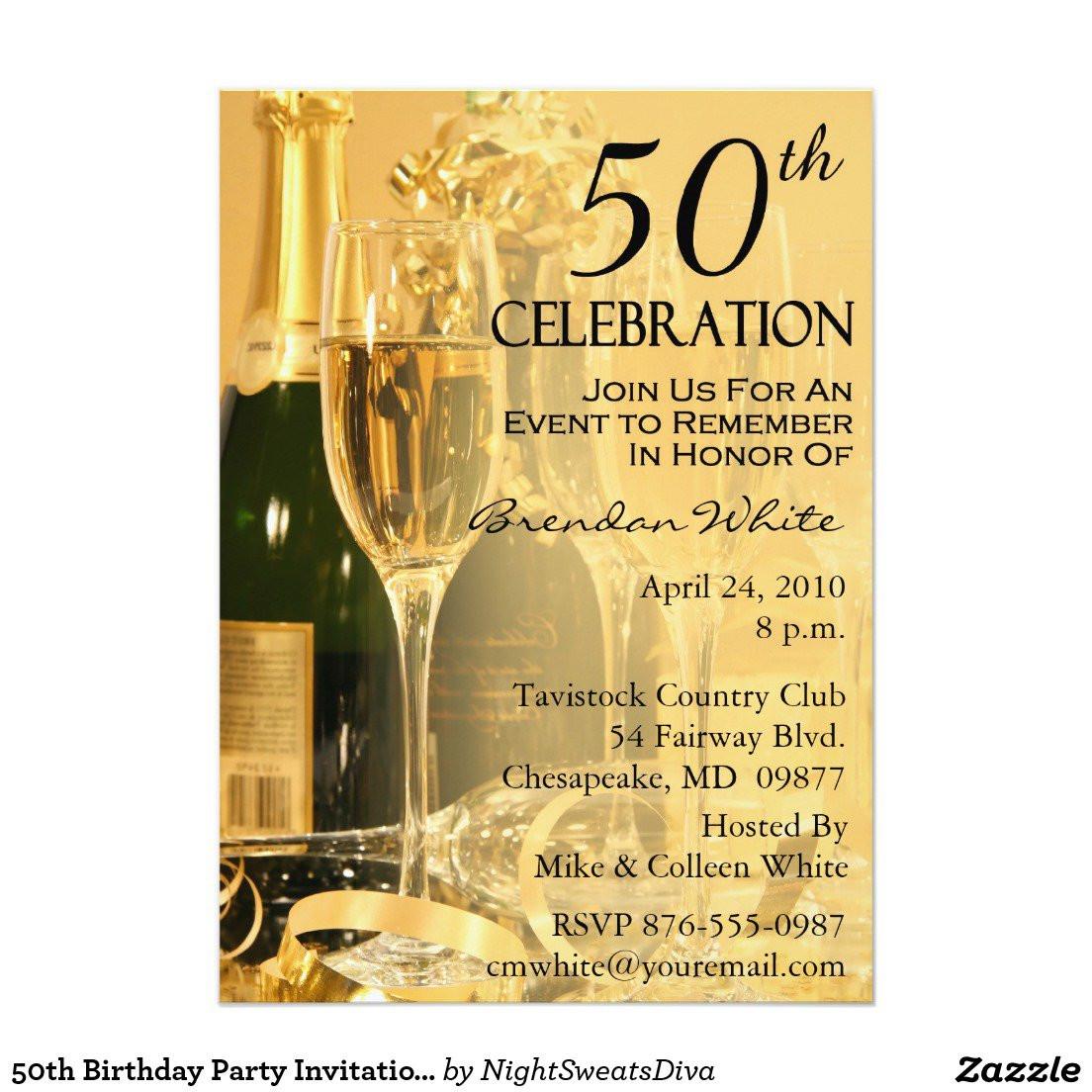 50th Birthday Invitations For Her  Invitation 50th Birthday Party