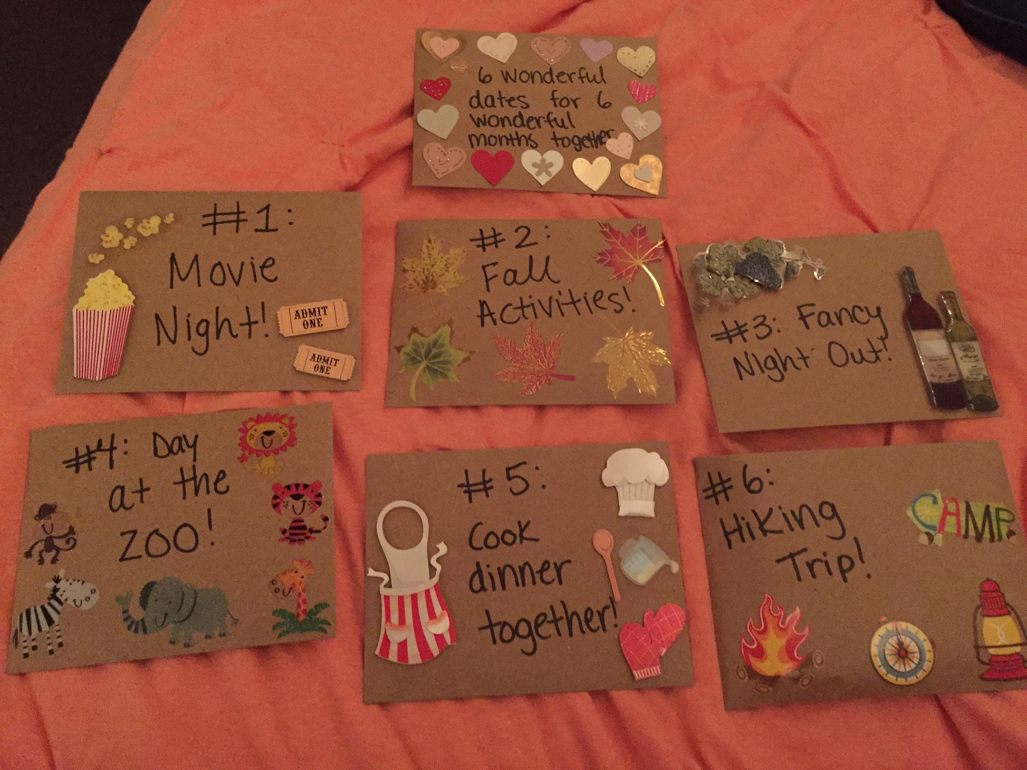 6 Month Anniversary Gift Ideas For Boyfriend T My Dates
