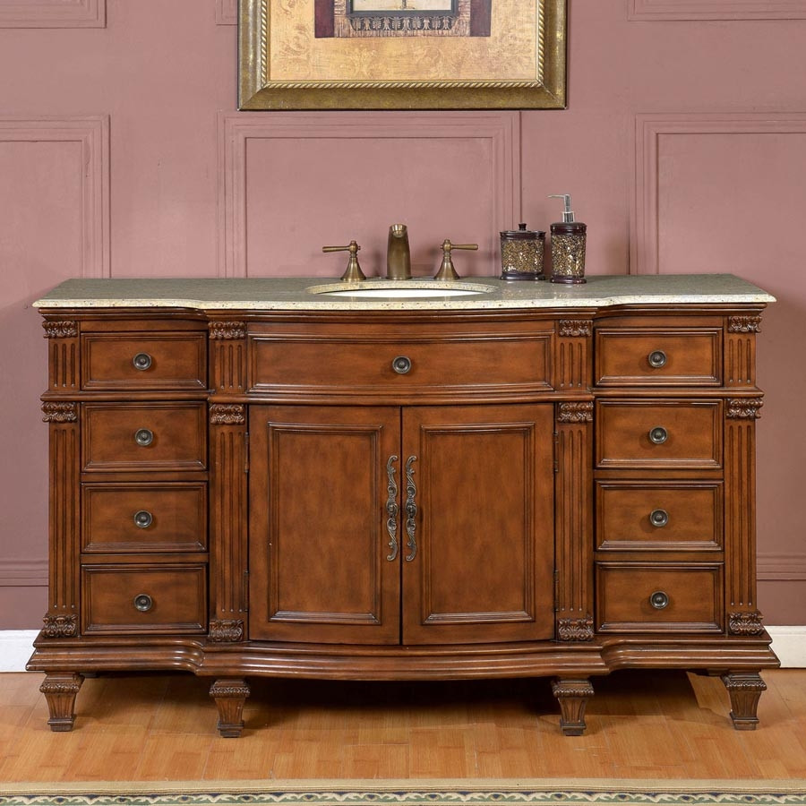 Best ideas about 60 Inch Bathroom Vanity Single Sink . Save or Pin 60 Inch Bathroom Vanity Single Sink Ideas Now.