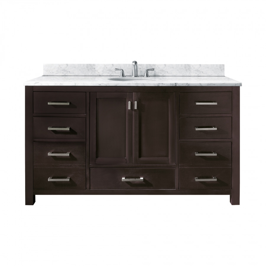 Best ideas about 60 Inch Bathroom Vanity Single Sink . Save or Pin 60 Inch Single Sink Bathroom Vanity with Choice of Top Now.