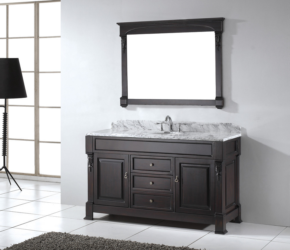 Best ideas about 60 Inch Bathroom Vanity Single Sink . Save or Pin How To Convert 60 Inch Single Sink Vanity — The Homy Design Now.