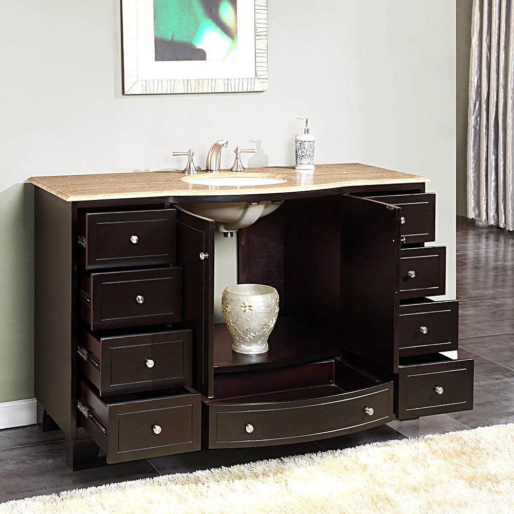 Best ideas about 60 Inch Bathroom Vanity Single Sink . Save or Pin 60 Inch Bathroom Vanity Single Sink Ideas — The Homy Design Now.