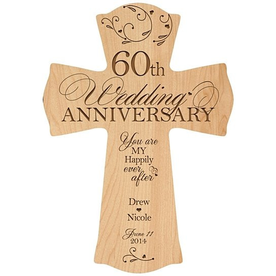 60 Wedding Anniversary Gift Ideas  Buy Personalized 60th Wedding Anniversary Cross You are